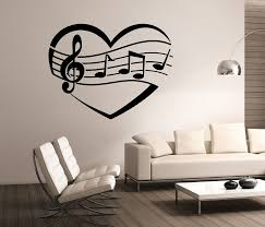 Heart Wall Stickers For Bedrooms Music Wall Decals Roselawnlutheran