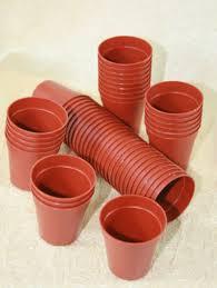 small plastic plant pots 50 miniature terracotta color pots 45mm