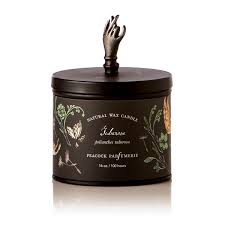Homesickcandles by Peacock Parfumerie Tuberose Candle Rosy Rings Botanist