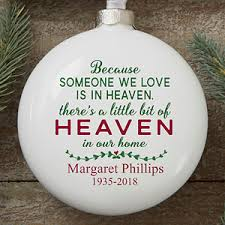 personalized remembrance ornaments engraved memorial ornaments christmas decore