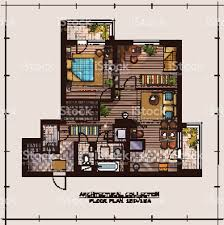 apartment floor plan stock vector art 511372548 istock