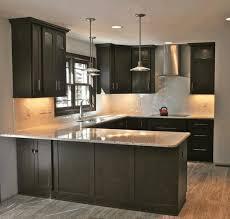 dark cabinet kitchen designs wicker bar stools black laminate
