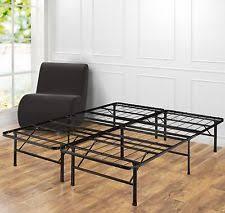 metal bed frame platform mattress foundation black queen size