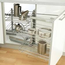swing out magic corner storage unit with linear wire baskets