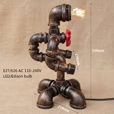 Modern Art Wohnzimmer Modern Art Deco Amerikanischen Land Roboter Studie Tischlampen E27