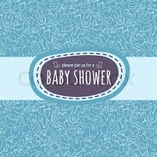 baby shower card or newborn photo album cover template with cute