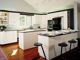 astounding white kitchen idea with track lights also breakfast bar