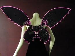 light up fairy wings pink el wire rave light up fairy wings love style pinterest