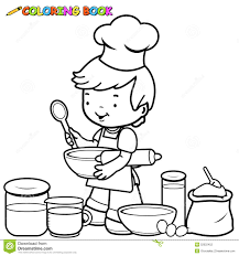 Colouring Of Kitchen Garden Drawing For Kids Free Coloring Pages Kitchen Utensils