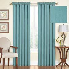 Thermal Energy Curtains Blue Sea Premium Lined Thermal Energy Efficient Blackout Curtains
