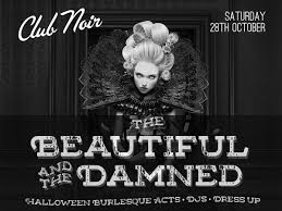 halloween cover photo buy tickets for club noir u0027the beautiful and the damned