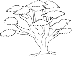 Oak Tree Coloring Page Free Clip Art Tree Coloring Pages