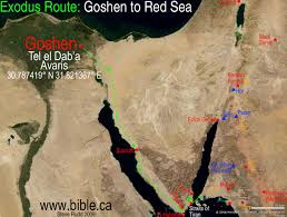 Map Of The Seas In The World by The Exodus Route Crossing The Red Sea