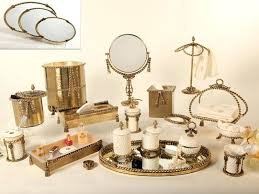 exclusive polished brass bathroom accessories modern clear crystal