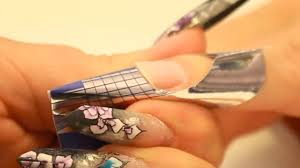apply nail forms square stiletto and edge shaped nails tutorial