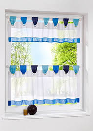 Cafe Tier Curtains Uphome 1pcs Cute Stitching Color White Cafe Window Tier Curtain