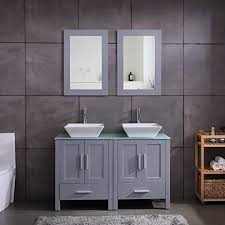 cost to paint kitchen and bathroom cabinets 48 sink bathroom vanity cabinet combo glass top grey paint mdf wood w faucet mirror drain set