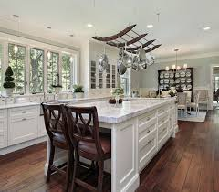 glamorous white open concept kitchen dining ideas marble island