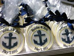 nautical wedding favors nautical cookie favors could be a sea shell a seahorse a fish