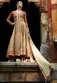 anarkali wedding dress buy beige and color wedding wear anarkali salwar kameez in
