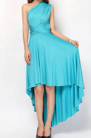 turquoise high low convertible infinity dress bridesmaid dress hl