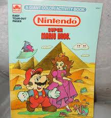 1989 nintendo super mario bros activity coloring book lightly