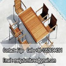 Teak Stainless Steel Outdoor Furniture by Stainless Steel 304 Burma Teak Table And Chair Outdoor Furniture
