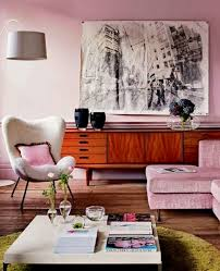 Pink Table L Interior Decoration Dusty Pink Living Room With L Shaped Pink