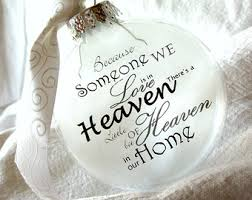 heaven in our home memorial ornaments keepsake large