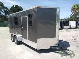 Exterior Doors B Q by 7x16 Ta Trailer Charcoal Barn Doors Side Door Electrical