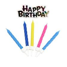 buy shimmering happy birthday candles from our all party