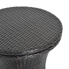 100 Wicker Patio Coffee Table - aosom outsunny rattan patio side table and ice bucket outdoor