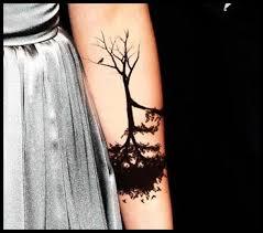 black ink tree on arm for tattooshunt com