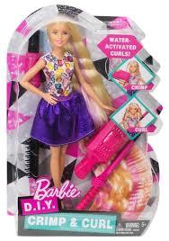 barbie crimps u0026 curls doll dwk49 barbie