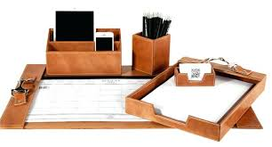 Desk Organizer Leather Desks Organizer Sets Amazing Brown Leather Desk Accessories