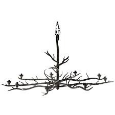 branch chandelier handmade tree branch chandelier steel at 1stdibs