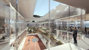 ford headquarters inside architect renders a faraday future headquarters of our dreams