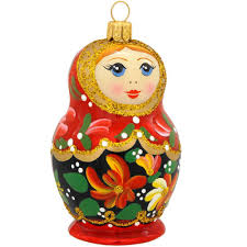 matryoshka doll glass ornament ethnic pride