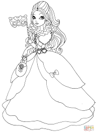 ever after high apple white thronecoming coloring page free