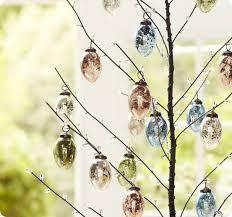 glass easter egg ornaments mercury glass easter eggs easter mercury glass