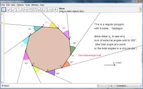 Interior And Exterior Angles Worksheet Geogebra Idea Exterior Angles Of A Polygon