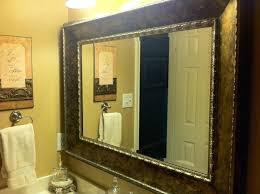 bathroom cabinets mirror edging wooden bathroom mirror stick on