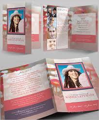 modern funeral programs modern funeral program card for free tidyform
