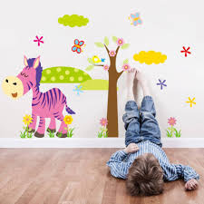 Wall Stickers For Home Decoration by Cartoon Animal Forest 3d Wall Stickers Decals For Nursery And Kids