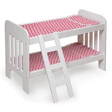 American Doll Bunk Bed Badger Basket Chevron Doll Bunk Bed With Bedding And Ladder