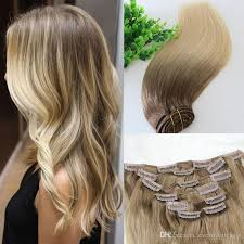 balayage hair extensions clip in human hair extensions ombre medium brown ombre