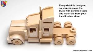 Free Wood Crafts Plans by Wood Toy Plans Famous Kenworth Semi Truck And Trailer Juguetes