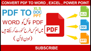 Convert Pdf To Word How To Convert Pdf To Word Without Software In Urdu
