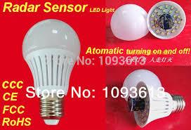 microwave light bulb led 4pcs lot hi tech microwave radar sensor led light bulb 5w 40w 7w 45w