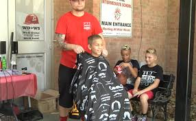 haircuts zanesville ohio foxfire schools and the sports barber give over a 100 free haircuts